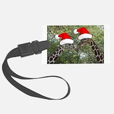 Christmas Giraffes Luggage Tag