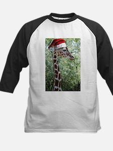 Christmas Giraffe Kids Baseball Jersey