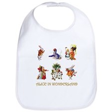 Alice and Friends in Wonderland Bib