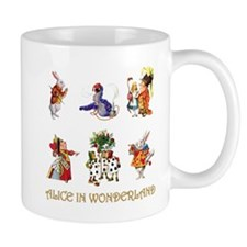 Alice and Friends in Wonderland Mug