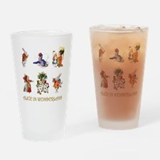 Alice and Friends in Wonderland Drinking Glass