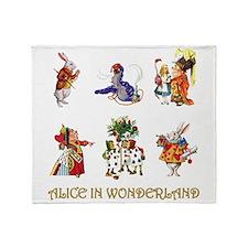 Alice and Friends in Wonderland Throw Blanket