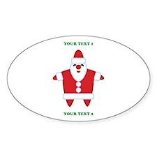 Custom Funny Santa Sticker (Oval)