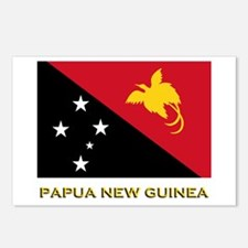 Papua New Guinea Flag Gear Postcards (Package of 8