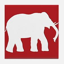 Red elephants Tile Coaster