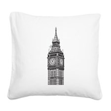 London Big Ben Square Canvas Pillow