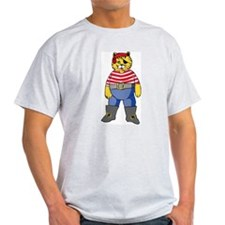 Pirate Kitty Ash Grey T-Shirt