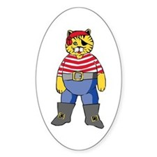 Pirate Kitty Oval Decal