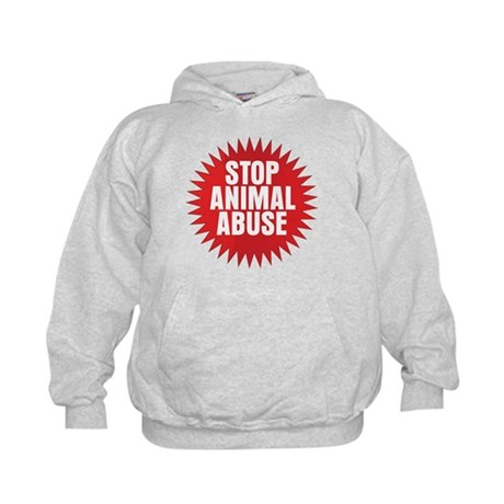 Stop Animal Abuse Kids Hoodie