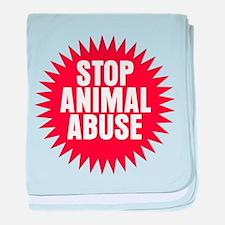 Stop Animal Abuse baby blanket