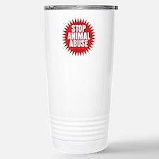 Stop Animal Abuse Travel Mug