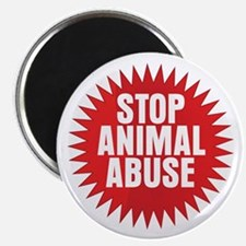 "Stop Animal Abuse 2.25"" Magnet (10 pack)"