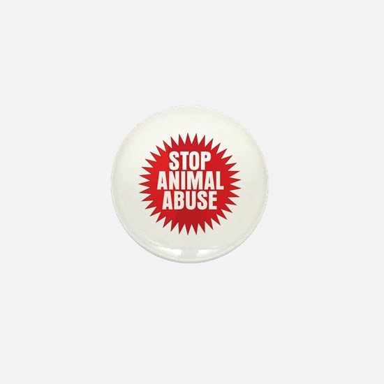 Stop Animal Abuse Mini Button (10 pack)