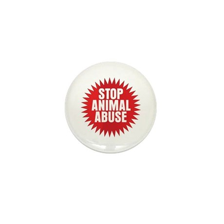 Stop Animal Abuse Mini Button (100 pack)