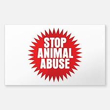 Stop Animal Abuse Decal