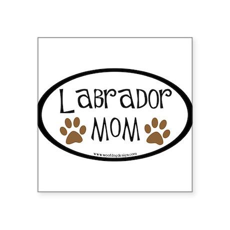 Labrador Mom Oval (inner border) Oval Sticker