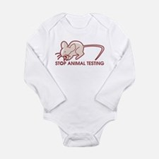 Stop Animal Testing Long Sleeve Infant Bodysuit