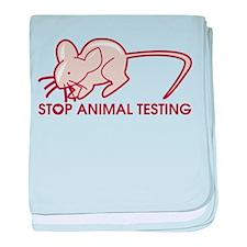 Stop Animal Testing baby blanket