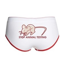 Stop Animal Testing Women's Boy Brief