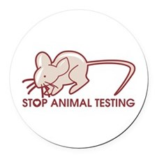 Stop Animal Testing Round Car Magnet