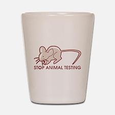 Stop Animal Testing Shot Glass