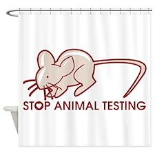 Stop Animal Testing Shower Curtain