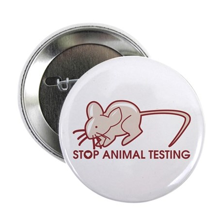 "Stop Animal Testing 2.25"" Button (10 pack)"