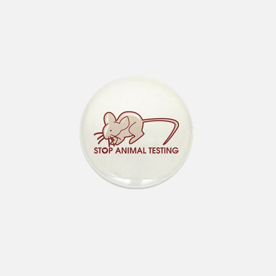 Stop Animal Testing Mini Button (10 pack)