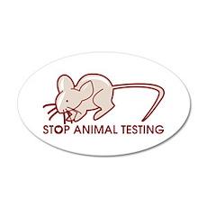 Stop Animal Testing Wall Decal