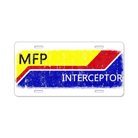 MFP Interceptor Aluminum License Plate