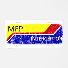 MFP Interceptor Aluminum License Plate