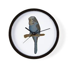 Blue Budgie Art Wall Clock