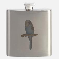 Blue Budgie Art Flask