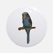 Blue Budgie Art Ornament (Round)