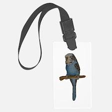 Blue Budgie Art Luggage Tag