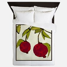 pomegranates Queen Duvet