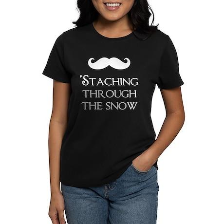'Staching Through the Snow Women's Dark T-Shirt
