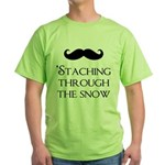 'Staching Through the Snow Green T-Shirt
