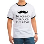 'Staching Through the Snow Ringer T