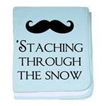 'Staching Through the Snow baby blanket