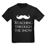'Staching Through the Snow Kids Dark T-Shirt