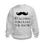'Staching Through the Snow Kids Sweatshirt