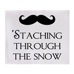 'Staching Through the Snow Throw Blanket