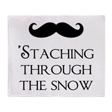 'Staching Through The Snow Throw Blanket