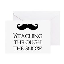 'Staching Through The Snow Greeting Card