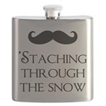 'Staching Through the Snow Flask