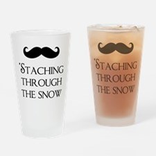 'Staching Through the Snow Drinking Glass