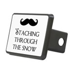 'Staching Through the Snow Rectangular Hitch Cover