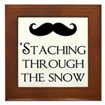 'Staching Through the Snow Framed Tile