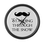 'Staching Through the Snow Large Wall Clock